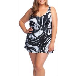 Maxine Plus Tidal Wind Empire Waist Swimdress