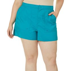 Maxine Plus Solid Back Elastic Boardshorts