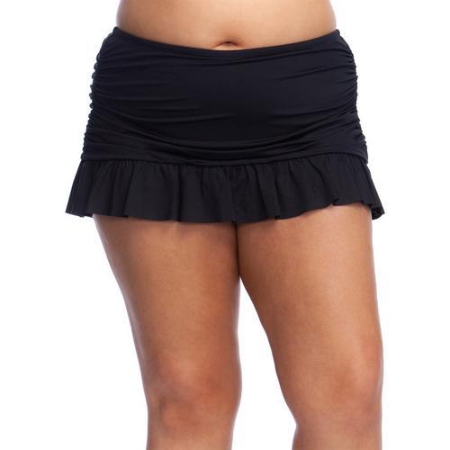 fcabb2a1f3b Kenneth Cole Reaction Plus Ruffle-Licious Swim Skirt