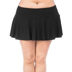 Chaps Plus Solid Swim Skirt