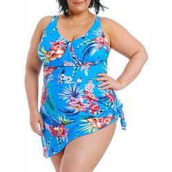 Gloria Vanderbilt Plus Tropics Sarong Swimdress