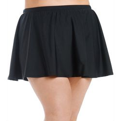 Gloria Vanderbilt Plus Solid Swim Skirt