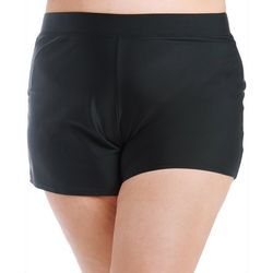 Gloria Vanderbilt Plus Solid Swim Shorts