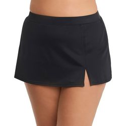 Caribbean Joe Plus Solid Swim Skirt