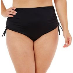 Caribbean Joe Plus Adjustable Side High Waist Swim Bottoms