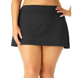 beac7fa09a Anne Cole Plus Live In Color Solid Swim Skirt