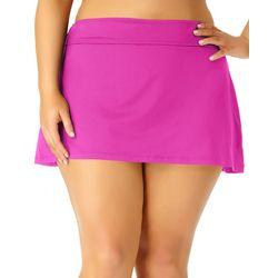 Anne Cole Plus Live In Color Solid Swim Skirt