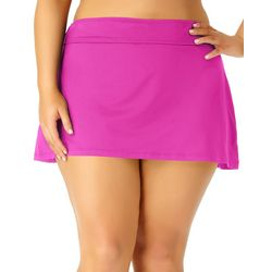 Anne Cole Plus Live In Color Solid Swim Skirt