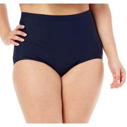 Paradise Bay Plus Girl Leg Solid Swim Bottoms