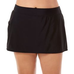 Paradise Bay Plus Solid Pocket Swim Skirt