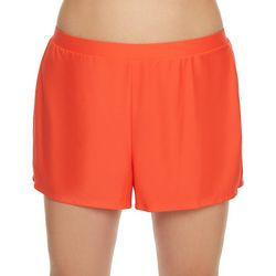 Beach Diva Plus Solid Elastic Waist Swim Shorts