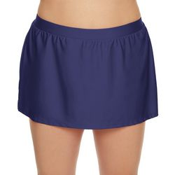 Beach Diva Plus Solid Elastic Waist Swim Skirt