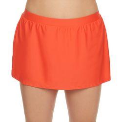 Beach Diva Plus Solid Elastic Waist Swim Skirt