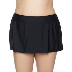 Beach Diva Plus Solid Swim Skirt