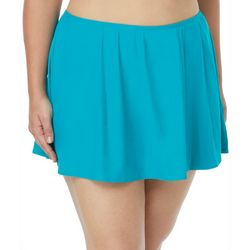 Coco Reef Plus Solid Pleated Swim Skirt