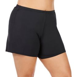 Leilani Plus Waikiki Solid Swim Shorts