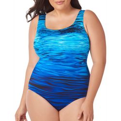 Longitude Plus Ocean Wave One Piece Swimsuit