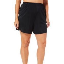 A Shore Fit Plus Solid Boxer Swim Shorts