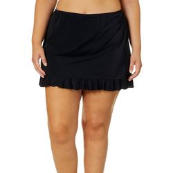 e27b9d1c9070 A Shore Fit Plus Solid Ruffle Trim Swim Skirt