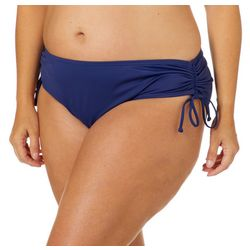 Reel Legends Plus Solid Side Ruched Swim Bottoms