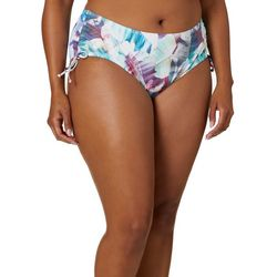Reel Legends Plus X-Ray Palm Print Ruched Swim Bottoms
