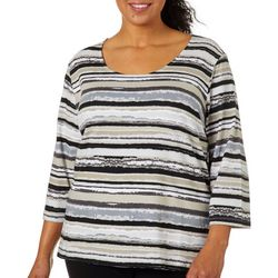 Hearts of Palm Plus Must Haves III Striped Top