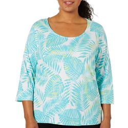 Hearts of Palm Plus Must Haves Palm Leaf Print Top