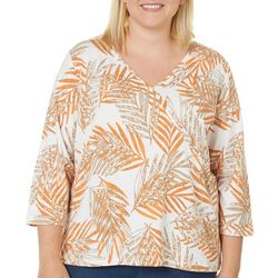 Hearts of Palm Plus Tribal Matters Surplice Top