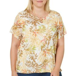 Hearts of Palm Plus Tribal Matters Diamond Lace Top