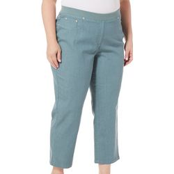 Hearts of Palm Plus Solid Pull-On Jegging Capris