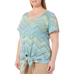 Hearts of Palm Plus Island Treasures Tie Front Top