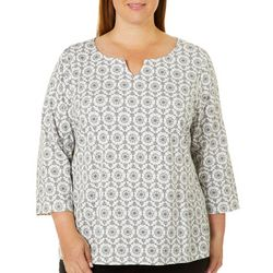 Hearts of Palm Plus Must Haves III Snowflake Print Top