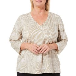 Hearts of Palm Plus Must Haves Animal Surplice Top