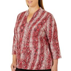 Hearts of Palm Plus Must Haves III Snake Print Top