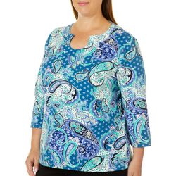 Hearts of Palm Plus Must Haves III Paisley Horseshoe Top