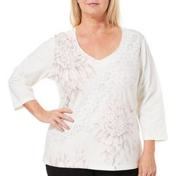 Hearts of Palm Plus Blush Hour Dahlia & Animal Print Top