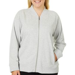 Hearts of Palm Plus Blush Hour Pearl Zip Up Jacket