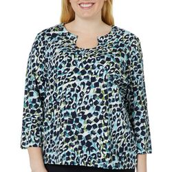Hearts of Palm Plus Must Haves III Embellished Animal Top