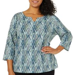 Hearts of Palm Plus Must Haves III Diamond Print Top