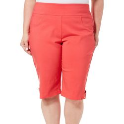 Hearts of Palm Plus Solid Skimmer Bermuda Shorts