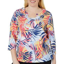 Hearts of Palm Plus Catch My Drift Birds Of Paradise Top