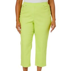 Hearts of Palm Plus Drop Me A Lime Solid Denim Ankle Jeans