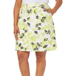 Hearts of Palm Plus Drop Me A Lime Citrus Print Skort
