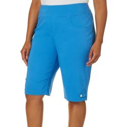 Hearts of Palm Plus Azure Thing Solid Skimmer Shorts