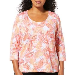 Hearts of Palm Plus Printed Essentials Palm Breeze Top