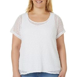 Hearts of Palm Plus Stay Neutral Solid Textured Top