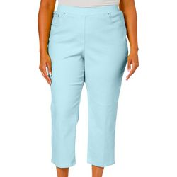Hearts of Palm Plus Essentials Solid Jegging Capris