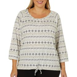 Hearts of Palm Plus Off Tropic Tribal Pull Over Top