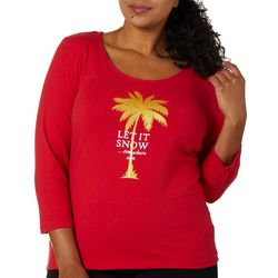 Hearts of Palm Plus Must Let It Snow Holiday Top