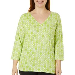 Hearts of Palm Plus Printed Essentials Geo Dot Top
